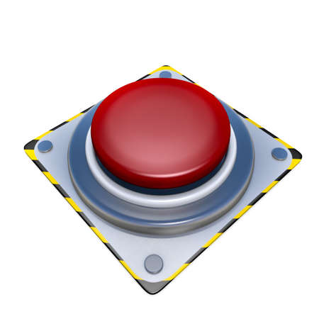 Red button  isolated on white background