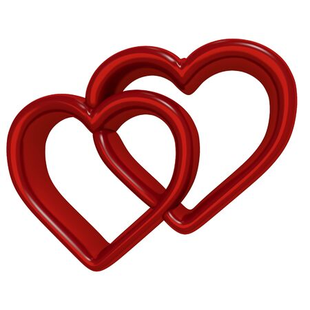 red heart 3D Stock Photo