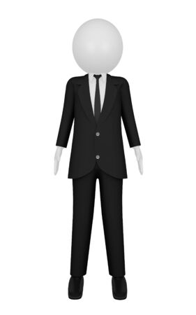 businessman 3D render  isolated on white background