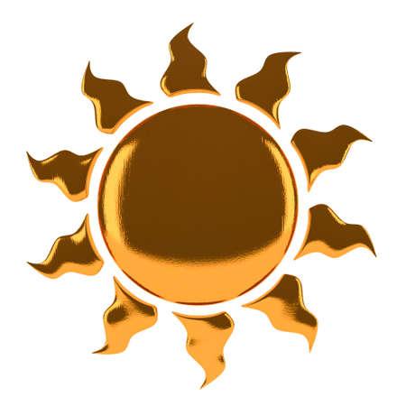 Symbol Sun  isolated on white background Stock Photo