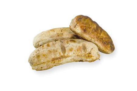 roasted banana  isolated on white background Stock Photo