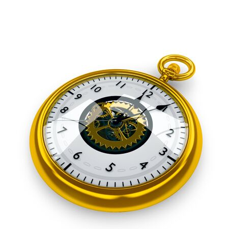 pocket watch: Pocket Watch  isolated on white background