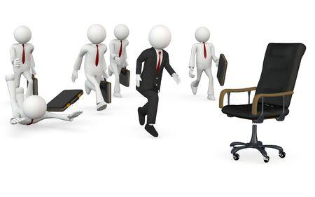 Businessman  isolated on white background Stock Photo