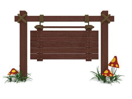 wood sign  isolated on white background Stock Photo