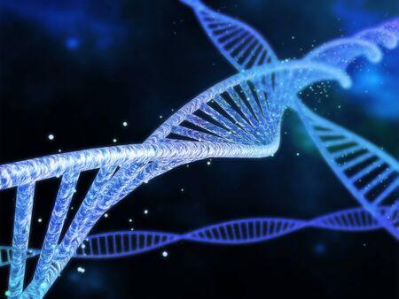 Spiral DNA on the dark background