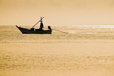 Połów łódka