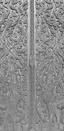 Tajski sztuka na Å›cianie Å›wiÄ…tyni.