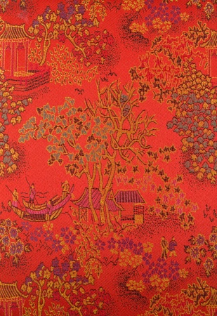 Chinese art on fabric.