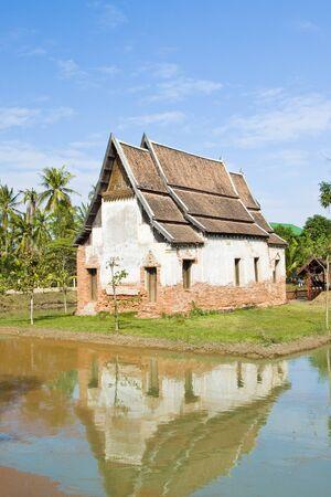 Starożytny kościół ma ponad 300 years.Wat Muen Wai, Nakhon Ratchasima TAJLANDIA