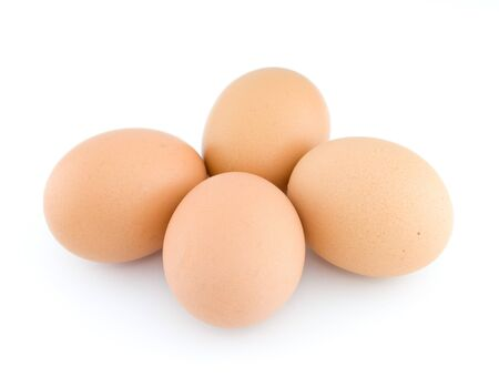 Eggs stack isolated on white