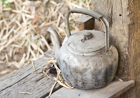 rustic kitchen: The old kettle in the Rustic Kitchen,thailand