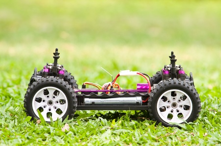 Close up of a toy RC 4x4 car Stock Photo - 13147631