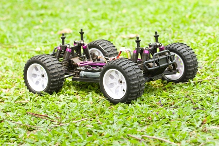 Close up of a toy RC 4x4 car  photo