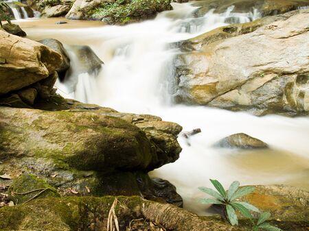 Mae Sa Wodospad w Chiangmai prowincji, Tajlandia
