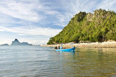 Plaża z góry tło Prachuap Khiri Khan City, Tajlandia