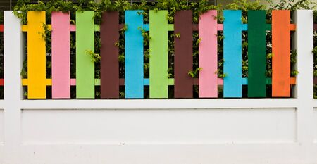 picket fence: Colorful of Fence   Stock Photo