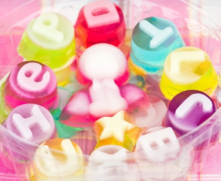 english text: English text on Jelly sweets