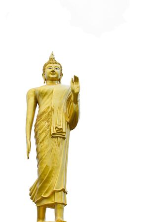 buddha with White isolation Stock Photo - 14045720