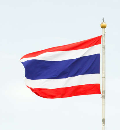 Tajlandia flag strumień krajowy na niebie