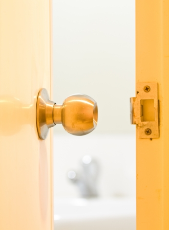 A doorknob is opened  Stock Photo - 14574747