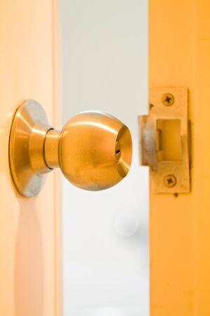 A doorknob is opened  photo