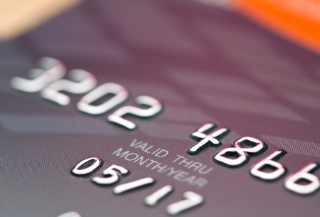 date validate: CloseUp valid date on credit card