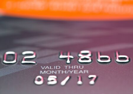 CloseUp valid date on credit card  photo