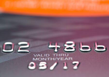 CloseUp ważna data na karcie kredytowej Zdjęcie Seryjne