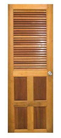 Drzwi z drewna na białym tle Zdjęcie Seryjne