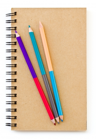 Crayon and note book