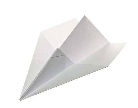 Szybowiec biaÅ'y papier Zdjęcie Seryjne