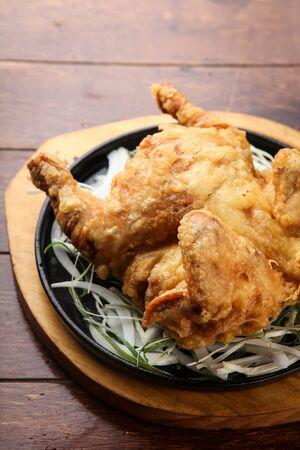 whole chicken: Crunchy whole chicken