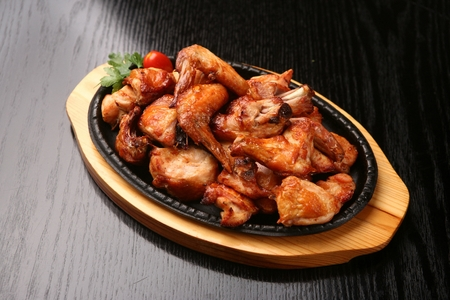 broil: bake chicken Stock Photo