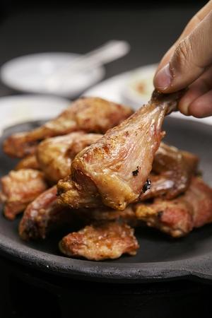 bake chicken Stock Photo