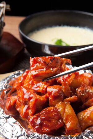 Hot and Spicy Chicken Stock Photo