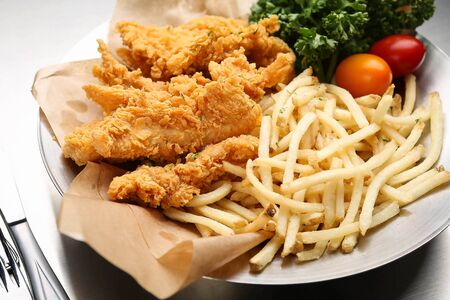 tenders: Chicken fingers Stock Photo