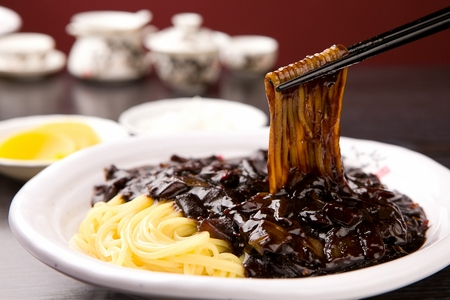 Jajangmyeon, black-bean-sauce noodles