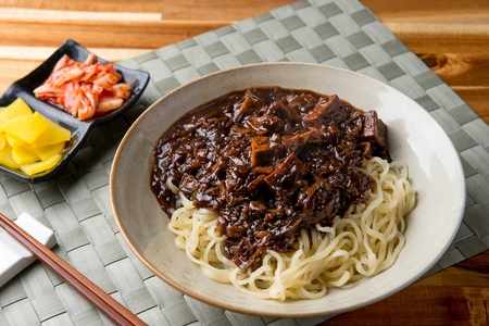 uni zhajjang, jajangmyeon, black-bean-sauce noodles
