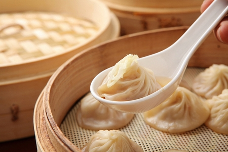 Xiaolongbao on table