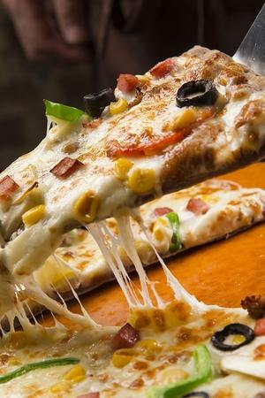 組み合わせピザ焼き 写真素材