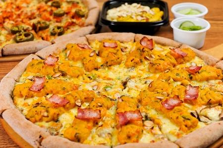 sweet pumpkin pizza on plate