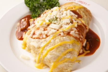 チーズ オムレツ ライス