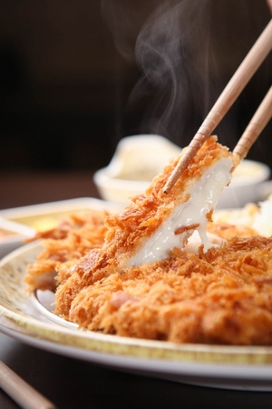 japanese cookery: cheese dongasue