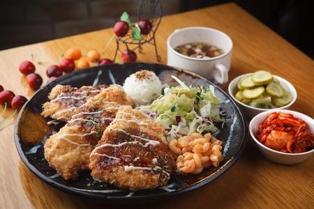 japanese cookery: chicken gaseu Stock Photo