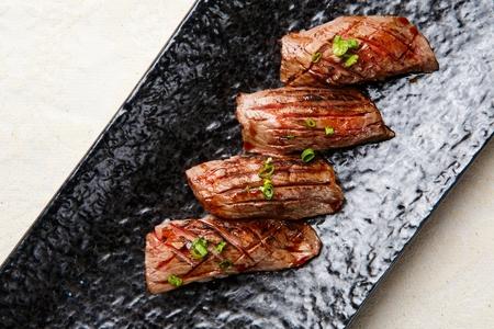 Beef sushi Stock Photo