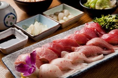 japanese cookery: tuna sushi