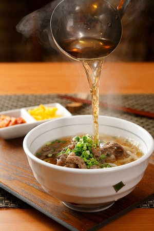 Beef Udon 版權商用圖片