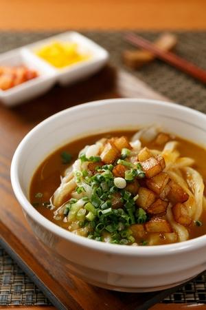 japanese cookery: Curry Udon potato Stock Photo