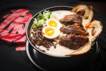 japanese cookery: Zenose ramen Stock Photo