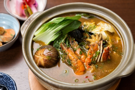 japanese cookery: Seafood curry nave Stock Photo